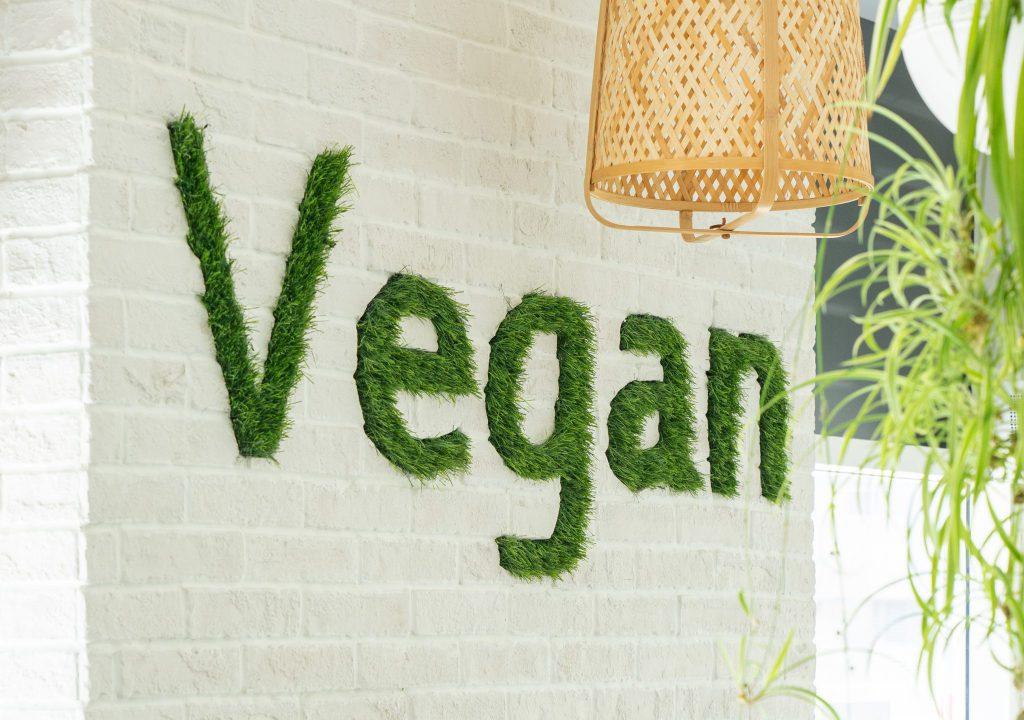 Vegan written on Soul Sante Cafe Wall